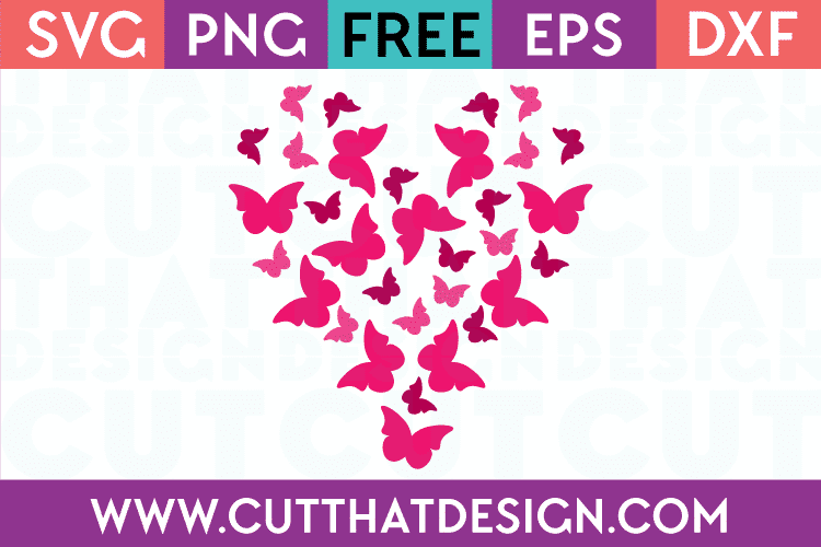 Free Heart Butterfly svg files