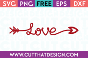 Free valentines arrow svg