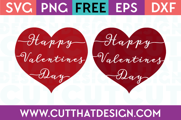 Happy Valentines Day Hearts Cut That Design