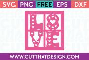free love svg cutting file