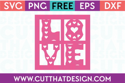 free love svg cutting file