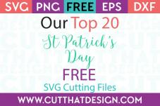 Free svg cutting files st pattys day