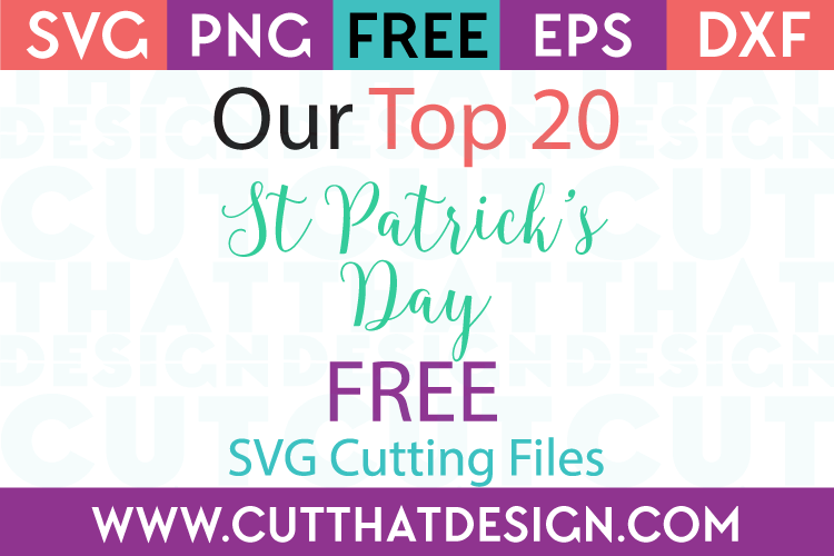 Free svg cutting files st pattys day