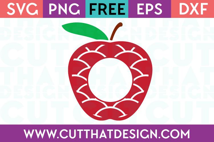 Free Teacher Apple SVG Files