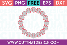 Free Baseball Circle Frame for Silhouette Cameo