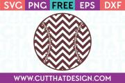 Free Chevron Pattern Baseball SVG