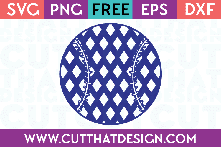 Diamond Patterned Baseball Free SVG