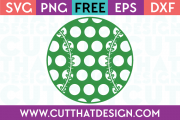 Baseball SVG Polka Dot Pattern
