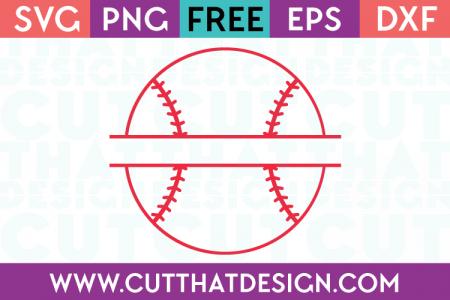 Free baseball split monogram