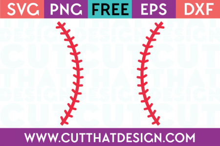 Free baseball laces svg