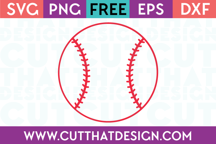 Free Baseball SVG Cutting File
