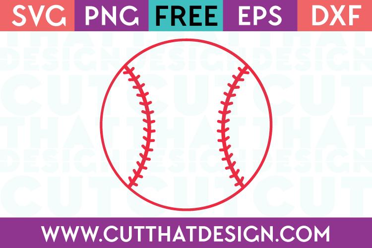 Free Baseball SVG Cutting File