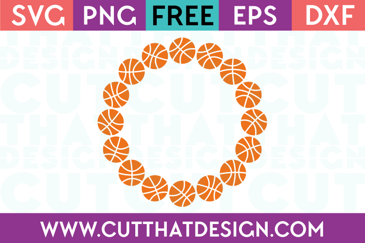 Basketball monogram frame svg