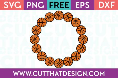 Basketball Monogram Frame svg