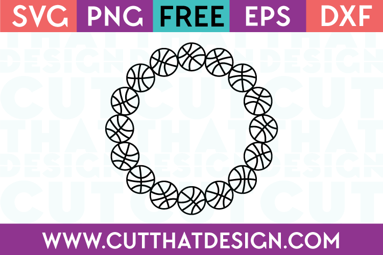 Basketball Circle Frame SVG