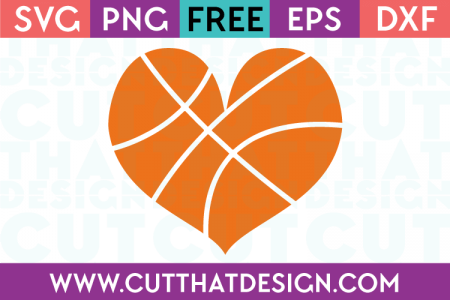 Free basketball heart svg
