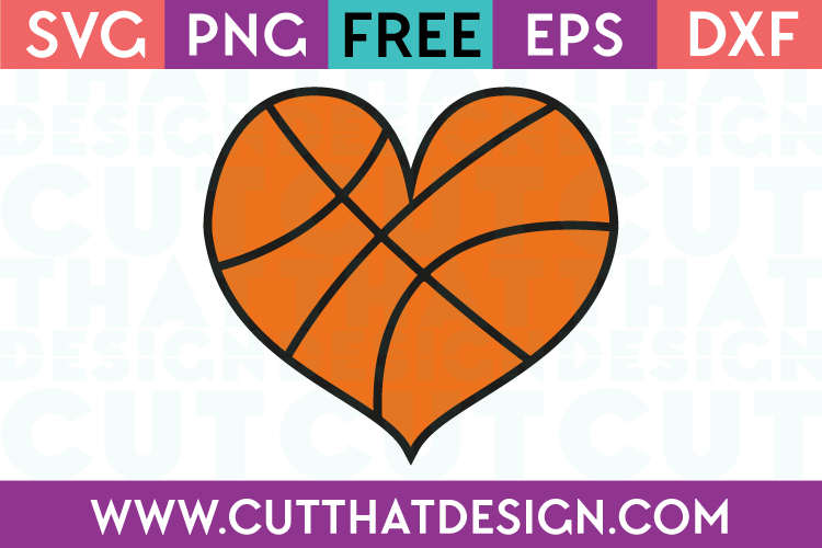 heart shaped basketball svg