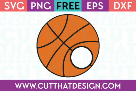 Basketball monogram svg cut file