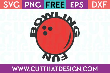 Bowling fun svg phrase free