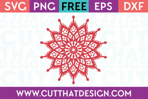 Mandala Outline SVG File