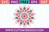 Free SVG Inverted Mandala Design