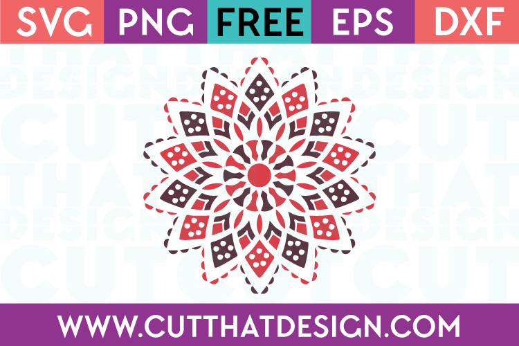 Free SVG Inverted Mandala Design
