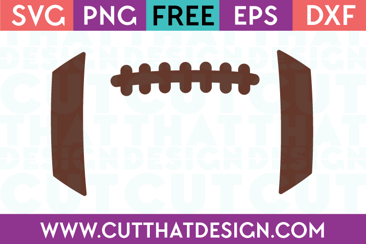 Football SVG For Silhouette Cutting Machine