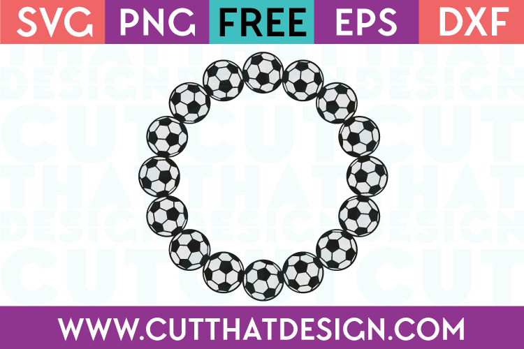 Soccer Ball Circle Monogram Frame | Cut That Design