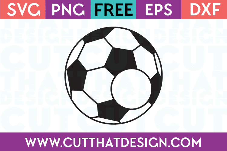 soccer ball monogram svg