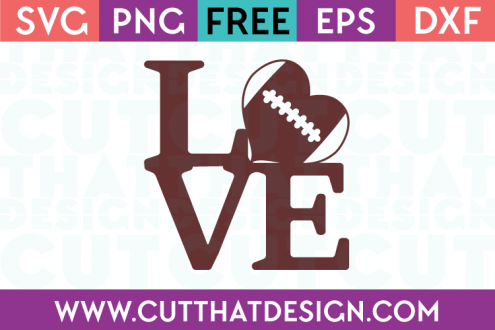 Football Love Free SVG