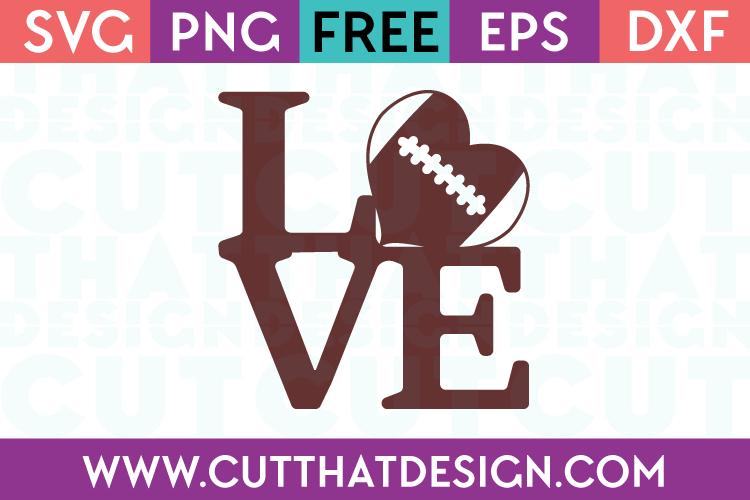 Football Love Free SVG