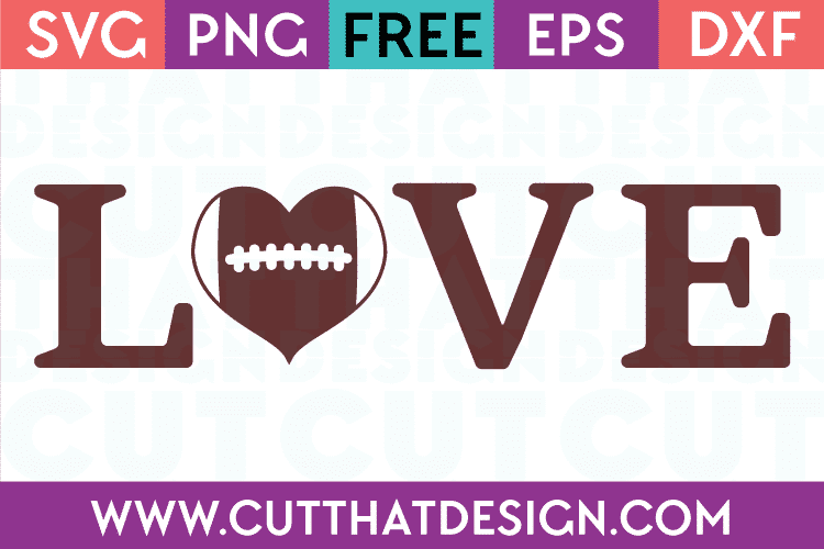 SVG Football Love Free