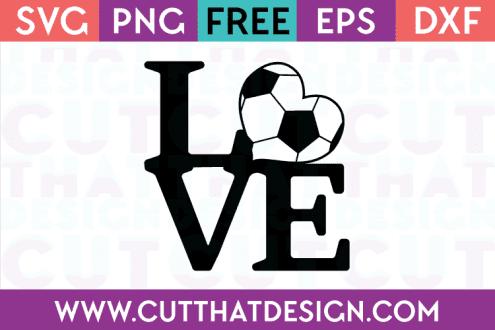 Free Soccer Love SVG