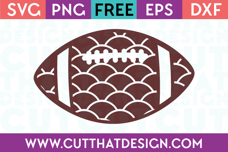 Patterned Football Design | Scallop Pattern