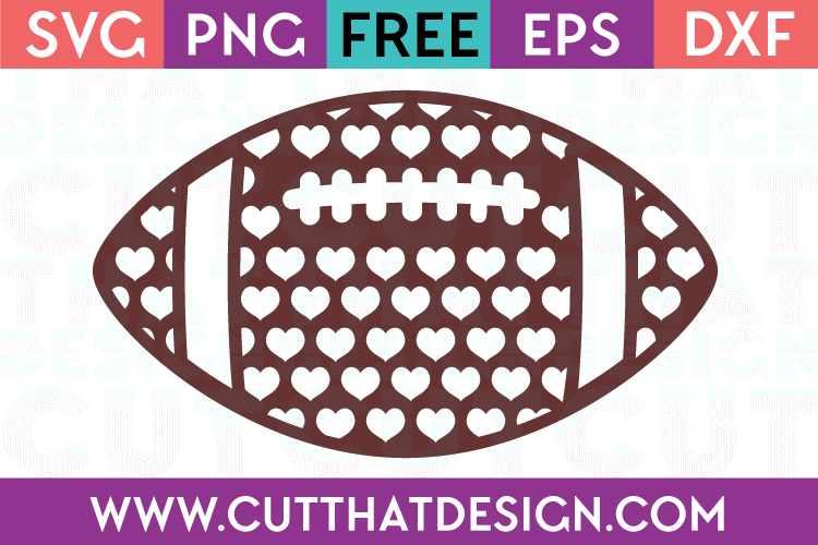 Free Svg Files Patterned Football Design Heart Cut That Design