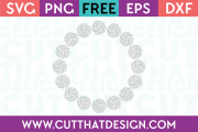 Circle monogram frame svg