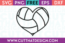 Volleyball Heart SVG