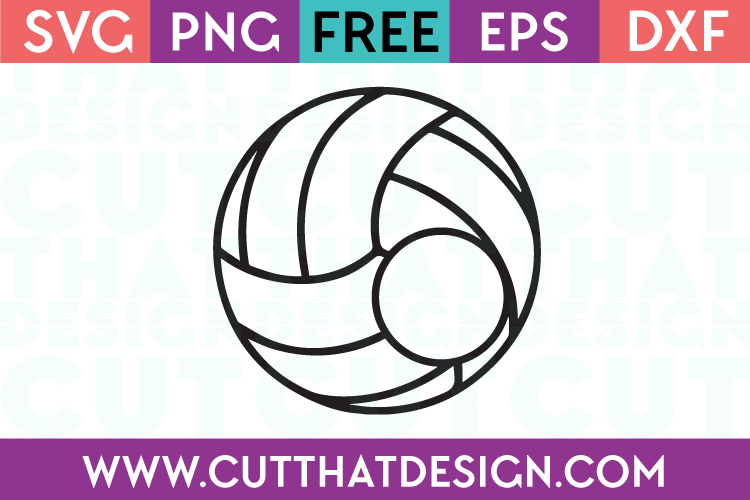Volleyball Monogram svg free