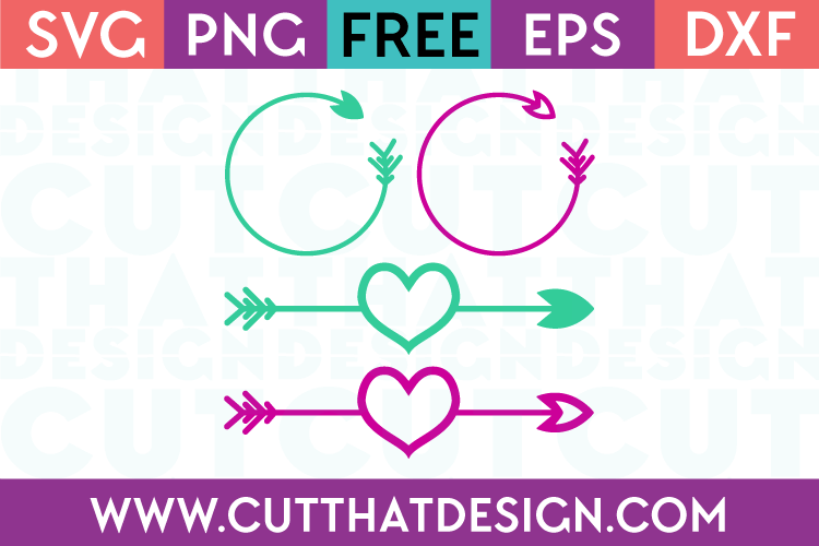 Arrow circle monogram svg for cricut