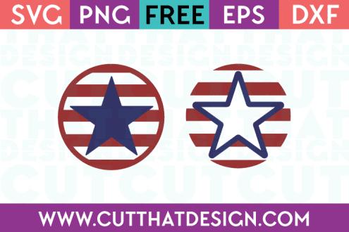 Free SVG Files US Flag Circle Designs