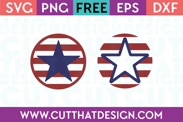 Free SVG Files US Flag Circle Designs