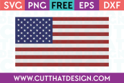 Free SVG Files USA Flag Design