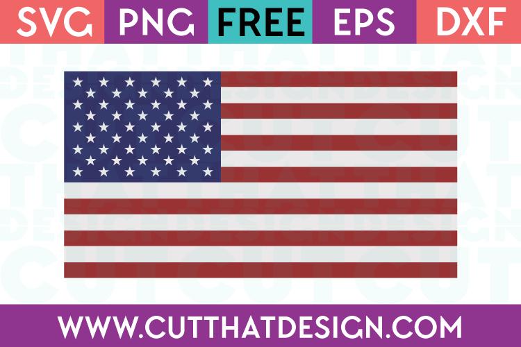 Free SVG Files USA Flag Design