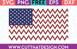 Free SVG Files USA Flag Chevron Design