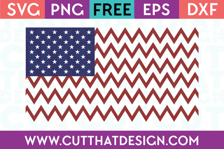 Free SVG Files USA Flag Chevron Design