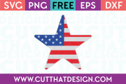 Free SVG Files USA Flag Star Design