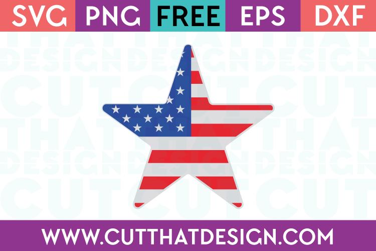 Free SVG Files USA Flag Star Design