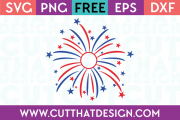 Free SVG Files Firework Monogram Design