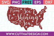 Free SVG Files From Sea to Shining Sea Quote Design