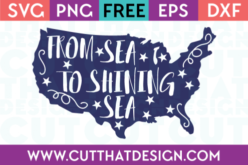 Free SVG Files From Sea to Shining Sea Design 2